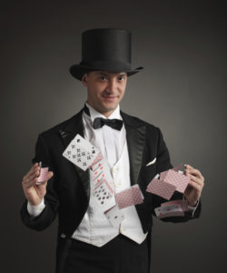 Magician Doing Card Tricks | Casino Holiday Parties Long Island NY | NYC