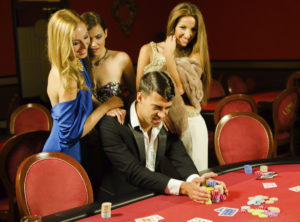Man and Women at Poker Table | NYC Casino Parties | Casinos by M&M