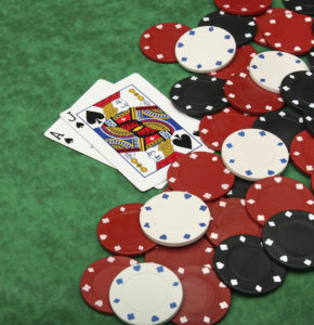 Blackjack with Gambling Chips | Casino Party Companies New York City
