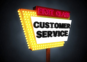 First Class Customer Service Sign | Casinos by M&M