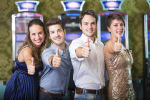 Successful Friends at Casino | Casino Theme Parties Long Island | NYC