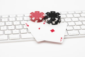 Poker Cards and Chips on Keyboard | NYC Casino Parties | Casinos by M&M