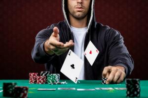 Man Playing Poker | Casino Holiday Parties NYC | Long Island NY