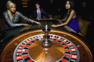 Man and Women at Casino | NYC Casino Parties | Casinos by M&M