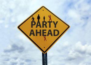Party Ahead Sign | Casino Holiday Parties Long Island NY | NYC