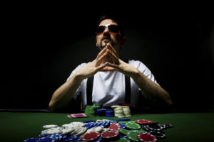 Man Playing Poker | Casino Parties LI | NYC
