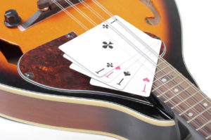Mandolin with Playing Cards | Casino Party Companies Long Island NY
