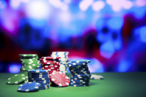 Poker Chips on Gaming Table | Casino Party Companies LI | NYC