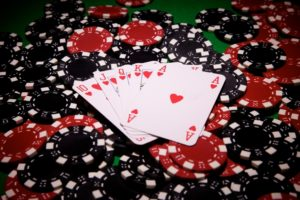 Royal Flush on Poker Chips | Casino Parties NYC | LI