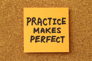 Practice Makes Perfect Sticky Note | NYC Casino Parties