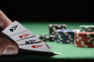 Hand Holding Four Aces | Casino Theme Parties NYC | Long Island