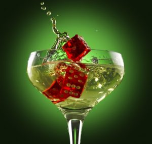 Casino Drink | Champagne | Red Dice | Casino Party