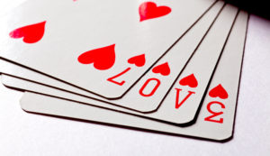 Playing Cards Spelling Out Love | Long Island Casino Parties