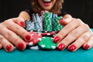 Female Poker Player | Casino Party Companies LI | NYC