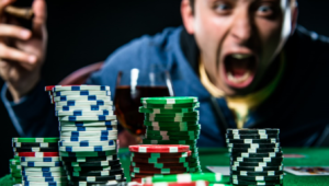Man Screaming with Poker Chips | Casino Parties LI | NYC