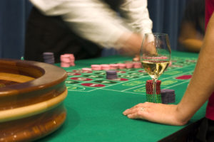 Poker Table with Wine | Casino Theme Parties NYC | Long Island