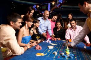 People around casino table